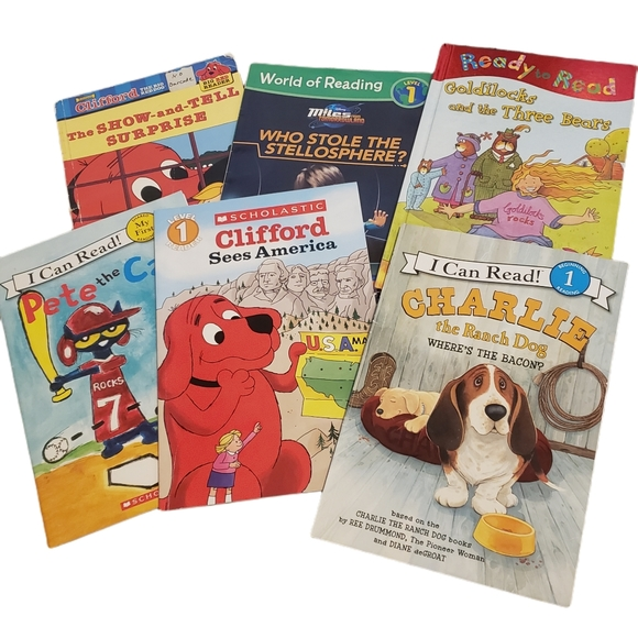 Books Level 1 Early Learning Readers Clifford Dog